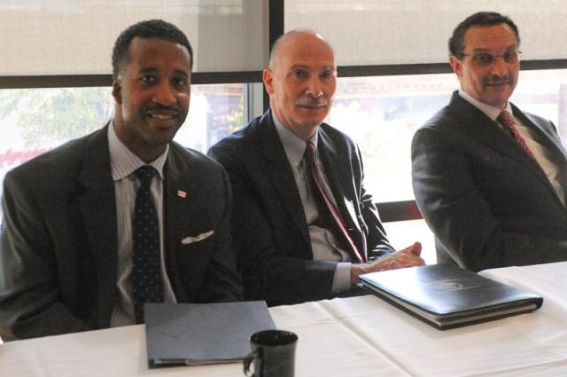 Phil, along with Councilmember McDuffie and Mayor Gray at the DC Commission for Women's Inaugural Policy Conference last Saturday.  Photo courtesy of Lateef Mangum.