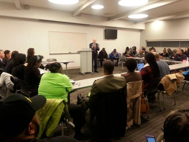 Phil speaking at the Anacostia Library last night.